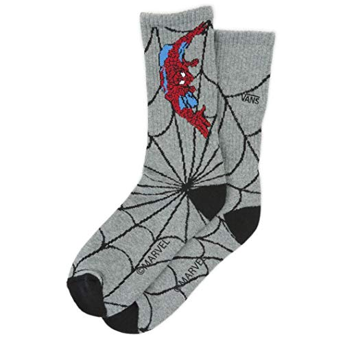 (Vans x Marvel Crew Sock (Heather Grey) Men's Marvel Comics Socks)