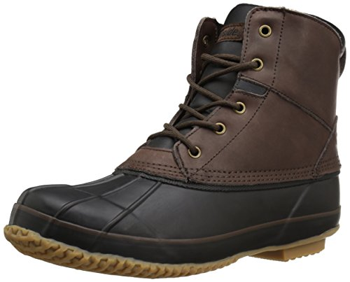 Northside Lewiston Men's Waterproof Lace-up Duck Boot, Dark Brown, 10 M US