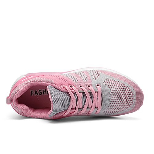 Mesh Gym Lightweight Gray Running Walk Jogging Trainers Sneakers Womens LILY999 Air Shoes Pink Cushion Casual Athletic HP6yt0q4c