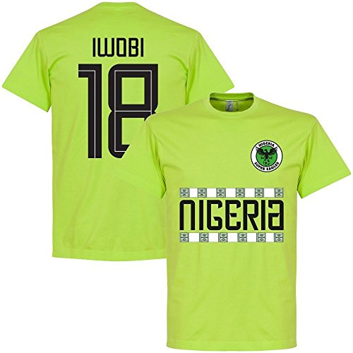 Retake Nigeria Iwobi 18 Team Tee - Light Green - S
