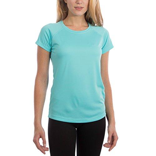 Vapor Apparel Women's UPF 50+ UV Sun Protection Performance Short Sleeve T-Shirt Medium Water Blue