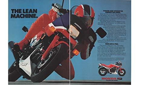 "Magazine Print Ad: 1986 Honda 500 Interceptor Motorcycle,""The Lean Machine"""