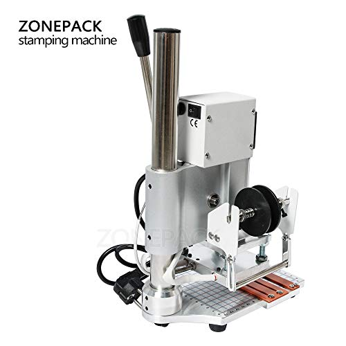 ZONEPACK 1013cm Digital Embossing Machine Hot Foil Stamping Machine Manual Tipper Stamper for PVC Leather Pu and Paper Stamping with Paper Holder and Scale by ZONEPACK (Image #2)
