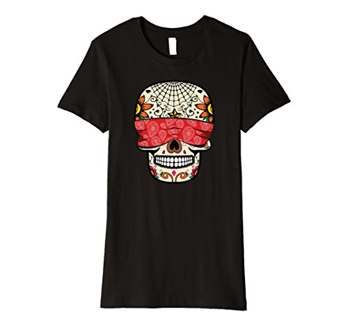 Hear No Evil Speak No Evil See No Evil Costumes (Womens See No Evil Sugar Skull T-Shirt Halloween Day Of The Dead Small Black)