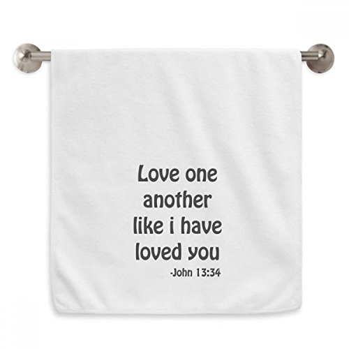 DIYthinker Love One Another Christian Quotes Circlet White Towels Soft Towel Washcloth 13x29 Inch by DIYthinker