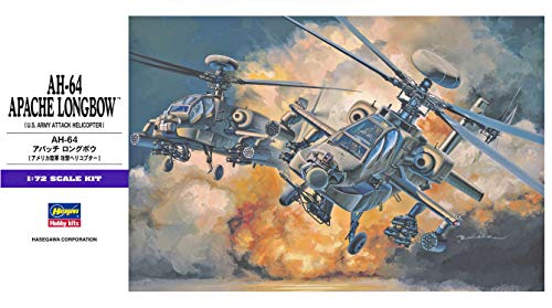 Hasegawa AH-64 Apache Longbow US Army Attack Helicopter, 1/72 Scale Plastic Model Kit/Item # 00536