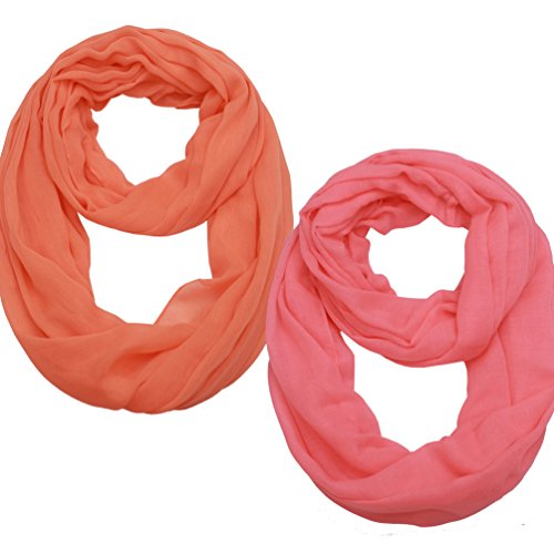 Women Lightweight Infinity Scarf Loop - Printed Soft Light Thin For Spring Summer 2018 New Design Fashion Scarfs Ideal Gift