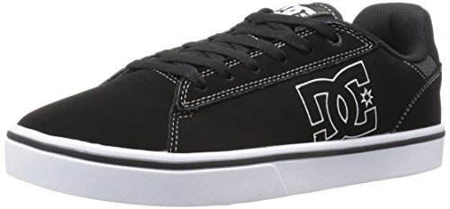 DC Men's Notch Skate M Skateboarding Shoe, Black/White, 12.5 M US