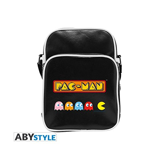ABYstyle Abysse Corp_ABYBAG241 Pac-Man-Messenger Bag Ghosts-Vinyl Small Size-Hook, Unisex Children, Multi Colour, -