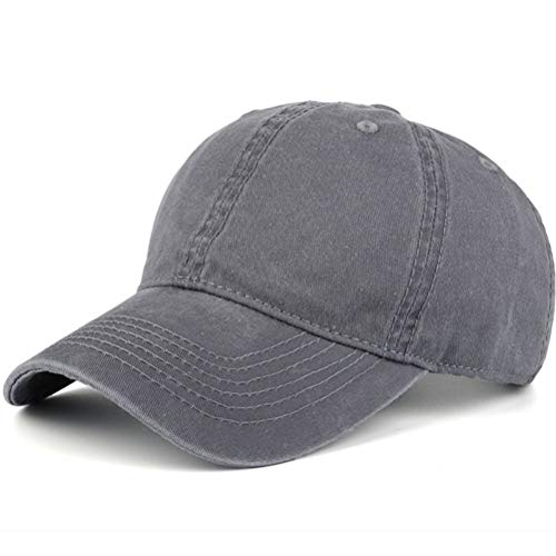 12b1a4fb0 AKIZON Plain Hats Blank Solid Color Baseball Dad Cap Cotton For Men Women &  Kids, Navy