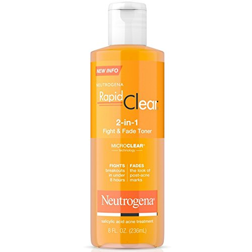 Neutrogena Rapid Clear 2-In-1 Fight & Fade Toner 8oz (2 Pack)
