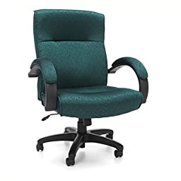 OFM Stature Series Upholstered Mid Back Executive Chair - Fabric Conference and Office Chair, Teal (453-302)