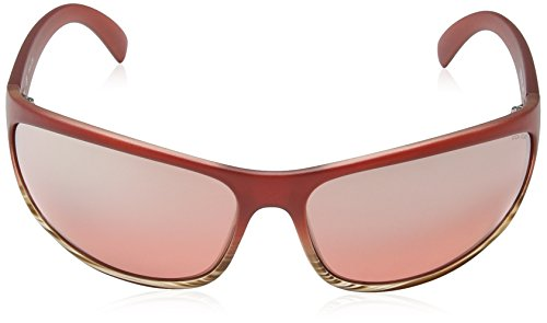 Police - Lunette de soleil Spectrum 1 SPECTRUM 1 Rectangulaire - Homme SEMI MATT DARK RED FRAME / LIGHT RED MIRROR LENS