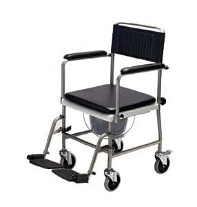 Carmesin tsu 1 silla de ruedas con retrete tama o universal salud y cuidado personal - Tamano silla de ruedas ...