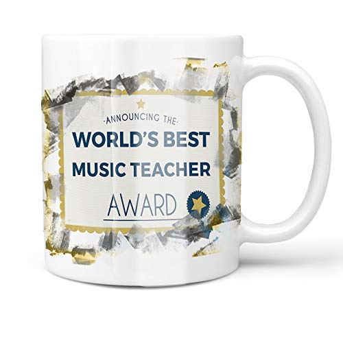 Neonblond 11oz Coffee Mug Worlds Best Music Teacher Certificate Award with your Custom Name