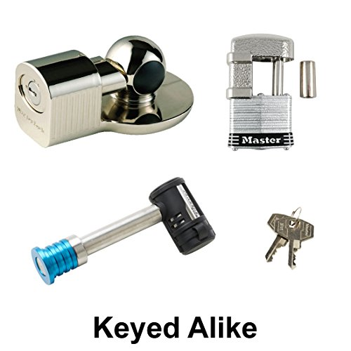 Master Lock - 3 Trailer Locks Keyed Alike 3KA-377-37 ()