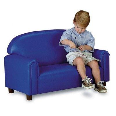 Blue Vinyl Sofa - 5