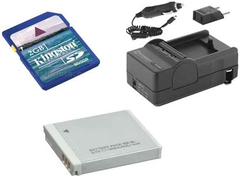 Canon PowerShot S95 Digital Camera Accessory Kit includes SDM-185 Charger KSD2GB Memory Card SDNB6L Battery