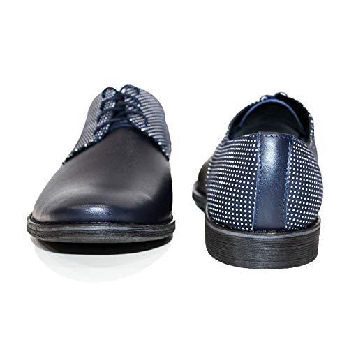 Cuir Hommes Modello Bleu Bunga Bunga Lacer de Cuir Marine Souple Oxfords Italiennes Handmade Cuir Chaussures des pour Vachette xRHIR0