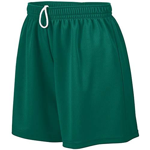 Augusta Sportswear Teen-Girls Wicking Mesh Short, Dark Green, Medium