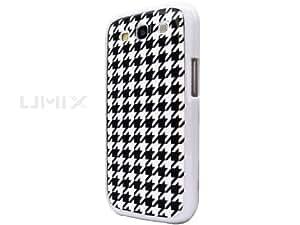 Samsung Galaxy S3 III GT i9300 Novoskins UmiX Houndstooth White Bumper Dual Piece Hard Case (Buy Any UMIX Case and Get 1 RANDOM Colour Series UMIX FREE) SALE