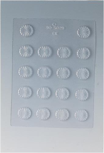 Paderno World Cuisine 18 Imprint 1.125-Inch Diameter Polypropylene Chocolate Mold, Fluted Round ()