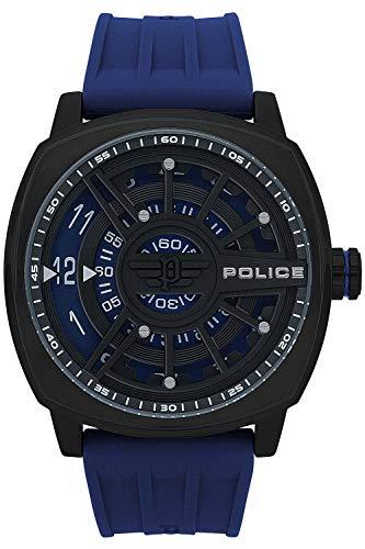 Police Speed Head Mens Analog Quartz Watch with Silicone Bracelet R1451290003