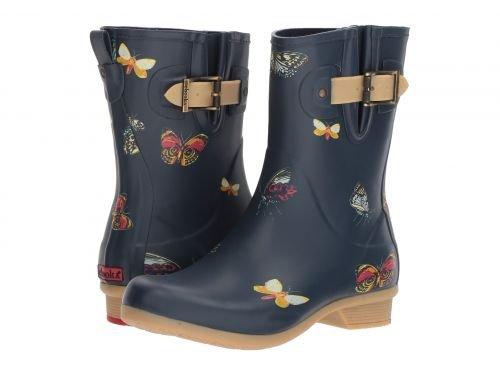 Chooka Women's Mid-Height Printed Rain Boot with Memory Foam Calf, Butterfly, 11 ()
