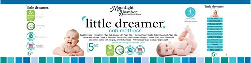 Moonlight Slumber Little Dreamer Dual Sleep Surface Crib Mattress - Waterproof, Hypoallergenic, and Antimicrobial Lightweight Crib Mattress with Extra Firm Infant Side and Plush Toddler Side