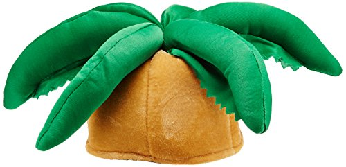 Plush Palm Tree Hat Party Accessory (1 count) (1/Pkg)