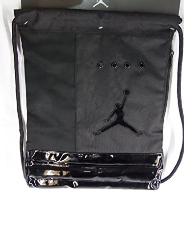 Black Nike Michael Jordan Rope Sack Gym Backpack Sackpack W jumpman ... 070ba708c3