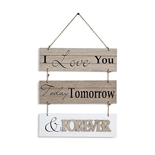 "Sunshine Slat Hanging (Danya B. ""I Love You Today, Tomorrow, Forever"" Sectioned Wooden Wall Plaque)"