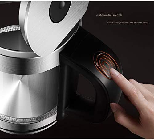 YQY 1.7L Bouilloire électrique avec Fonction Chaud Keep, arrêt Automatique, Faire bouillir la Protection Sec, 1850W Rapide Boling Chauffe-Eau Change de Couleur Indicateur LED