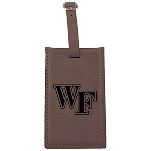 Wake Forest University -Leatherette Luggage Tag-Brown by LXG, Inc.