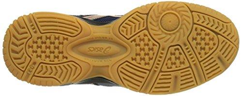 Asics Gel-squad - Zapatillas de balonmano Unisex Niños Blau (NAVY/LIGHTNING/NEON ORANGE 5093)
