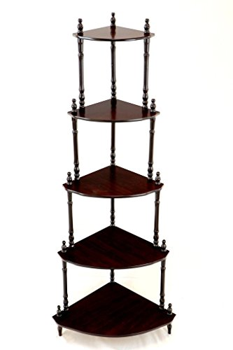 HOUZIE Home Furnishing 5-Tier Corner Stand(Assorted Colour)