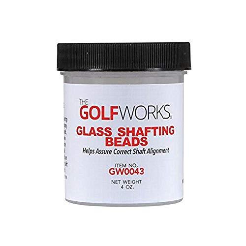 Premium Glass Shafting Beads 4 Oz - Golf Club Shaft Installation Stabilizer - Increase Bond Strength - Golfworks Authentic ()