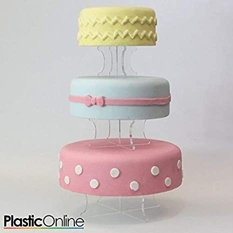 Three Tear Wedding Cakes.3 Tier Wedding Cake Display Stand Perspex Cake Risers