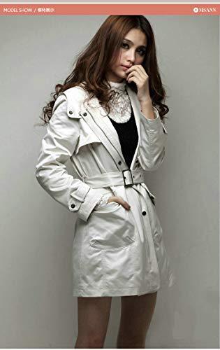 Mujer Larga Fashion Beige Outerwear Invierno Elegantes Parkas Outdoor Forrado Pieles Con Espesar Encapuchado Manga Vintage Ropa Caliente Chaqueta RqwAB58