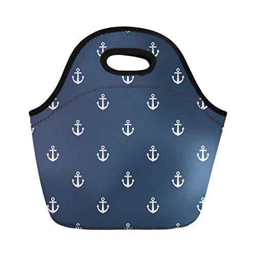 Life Preserver Sailor Purse - Semtomn Neoprene Lunch Tote Bag Blue