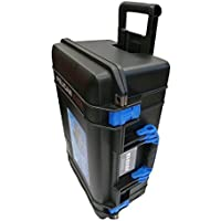 Black Pelican 1535 Air case with Blue Handle & latches. No Foam.