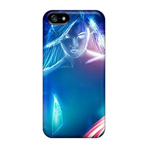 ChrisArnold Perfect Cases For Iphone 5/5s/ Anti-scratch Protector Cases (neon Woman 3d)