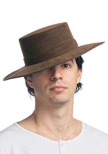 Faux Leather Spanish Hat - ST -
