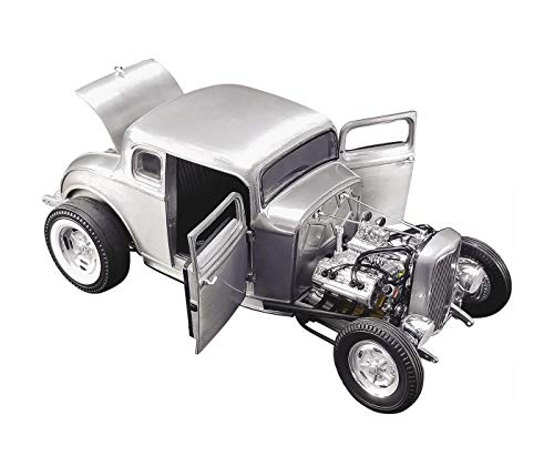 1932 Ford 5 Window Hot Rod Coupe Hammered Steel Limited Edition to 774 pieces Worldwide 1/18 Diecast Model Car by Acme A1805013