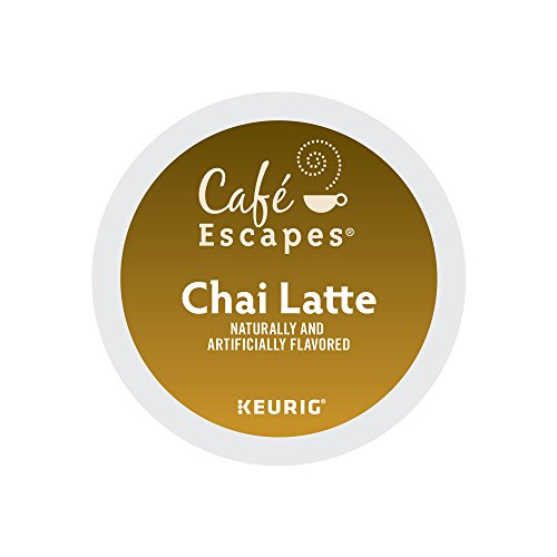 Cafe Escapes Chai Latte Coffee, Keurig K-Cups, 72 Count
