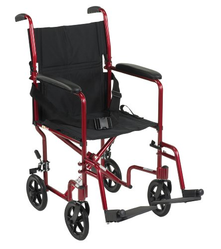 (Drive Medical Aluminum Transport Chair, 19