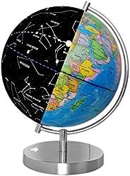NUOBESTY 1 Pc Constellation Luminous World Globe English Version Globe with USB Interface Educational Tool for