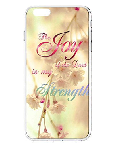 UKASE Back Cover Snap on Case for 5.5 inch iPhone 6 Plus with Inspiration Bible Sayings Joy of the Lord is My Strength