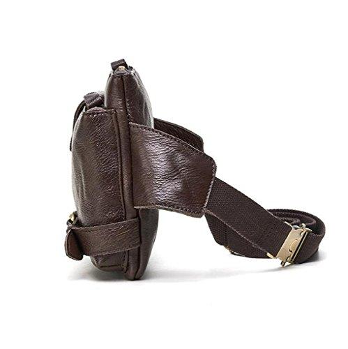 Sucastle Piel Pecho Autentico Bandolera de Cuero Resistentes Bolsa Pequeña 26 Bolso de Hombre Bolsos 1 Bolsos Mochila y Hombro 5x3x18cm r7nxtrqwR
