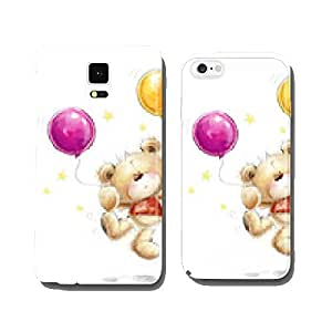 Teddy bear with colorful balloons and stars.Happy Birthday cell phone cover case iPhone6 Plus
